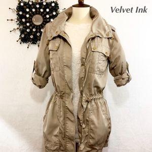 Michael Kors Silky Cinch Waist Utility Jacket!